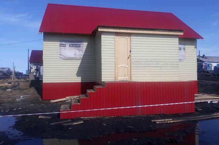 Строительство домов в поселке Сындасско идет полным ходом